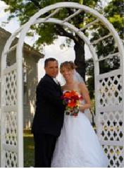 vinyl wedding arch