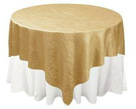 gold crinkle over lays 90 by 90 inches purchased 021815